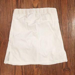 J Crew linen strapless Top white